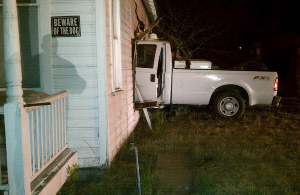 Truck Crashes Into Home Pins Woman For An Hour Ksl Com