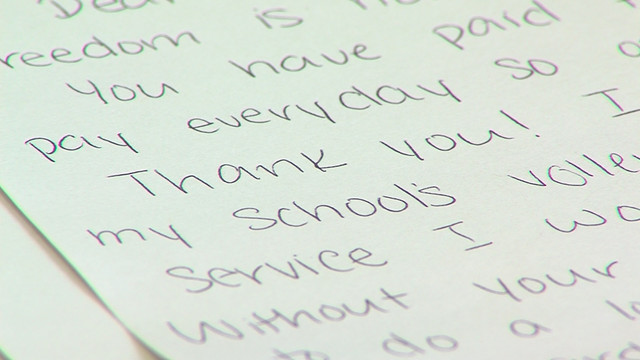 High school students honor WWII veterans with special mail call