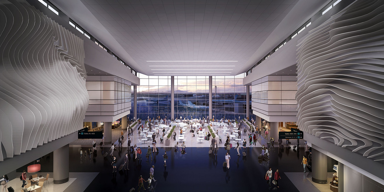 Salt lake city interior designers - Renderings Are Released As Salt Lake City International Airport Terminal Design Details Are Unveiled In Salt Lake City Tuesday Sept 29 2015