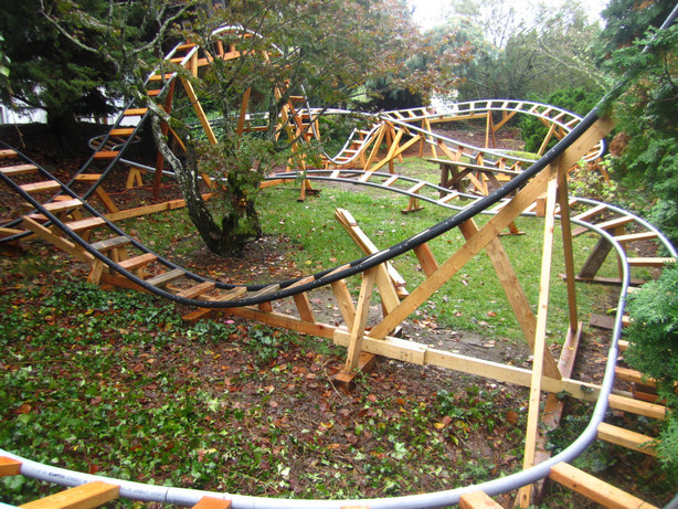 image0 image1 image2 image3 image4 image5 - U. Engineer Builds 3 Roller Coasters In His Backyard For Grandkids