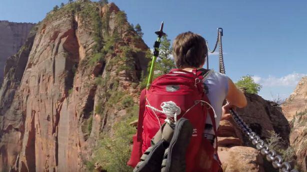 Video shows Utah's most notorious half mile — Angels Landing