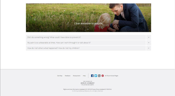 LDS Church launches \'Preventing Suicide\' website during National ...