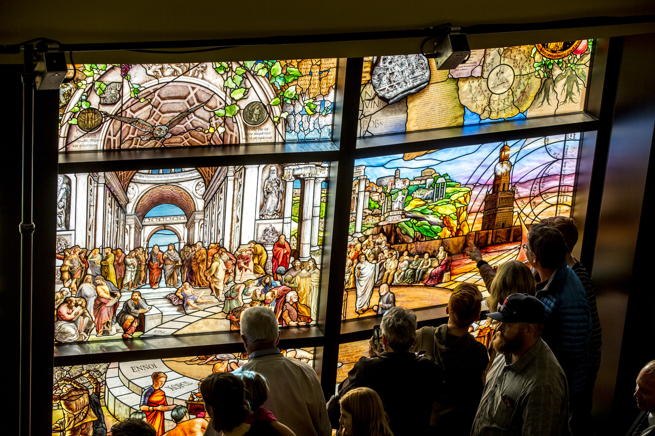 Utah Valley University Unveils Massive Stained Glass Installation