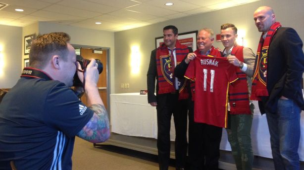 Donning the No  11 shirt, RSL introduces newest DP Rusnak
