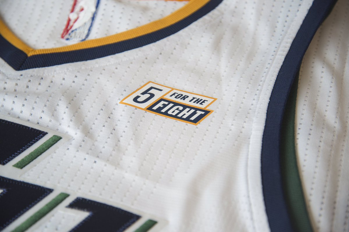 ... Cancer charity logo to appear on Utah Jazz jerseys 8db73d180