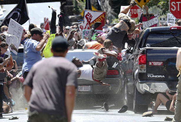 Location Of Car Crash In Charlottesville