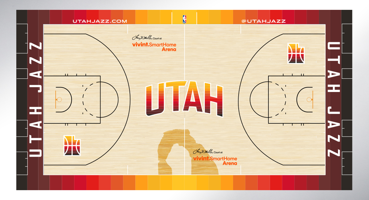 Jazz reveal red rock-inspired alternate jersey, court ...