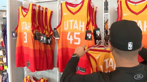 reputable site 593e7 69c55 Sold out Jazz jerseys are as popular as they are difficult ...