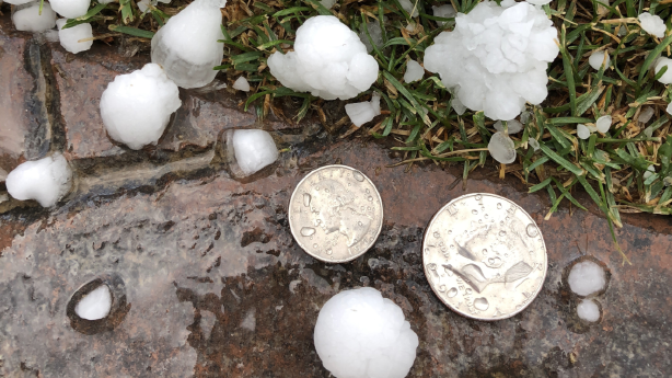 Severe storm brings half-dollar-sized hail to several ...