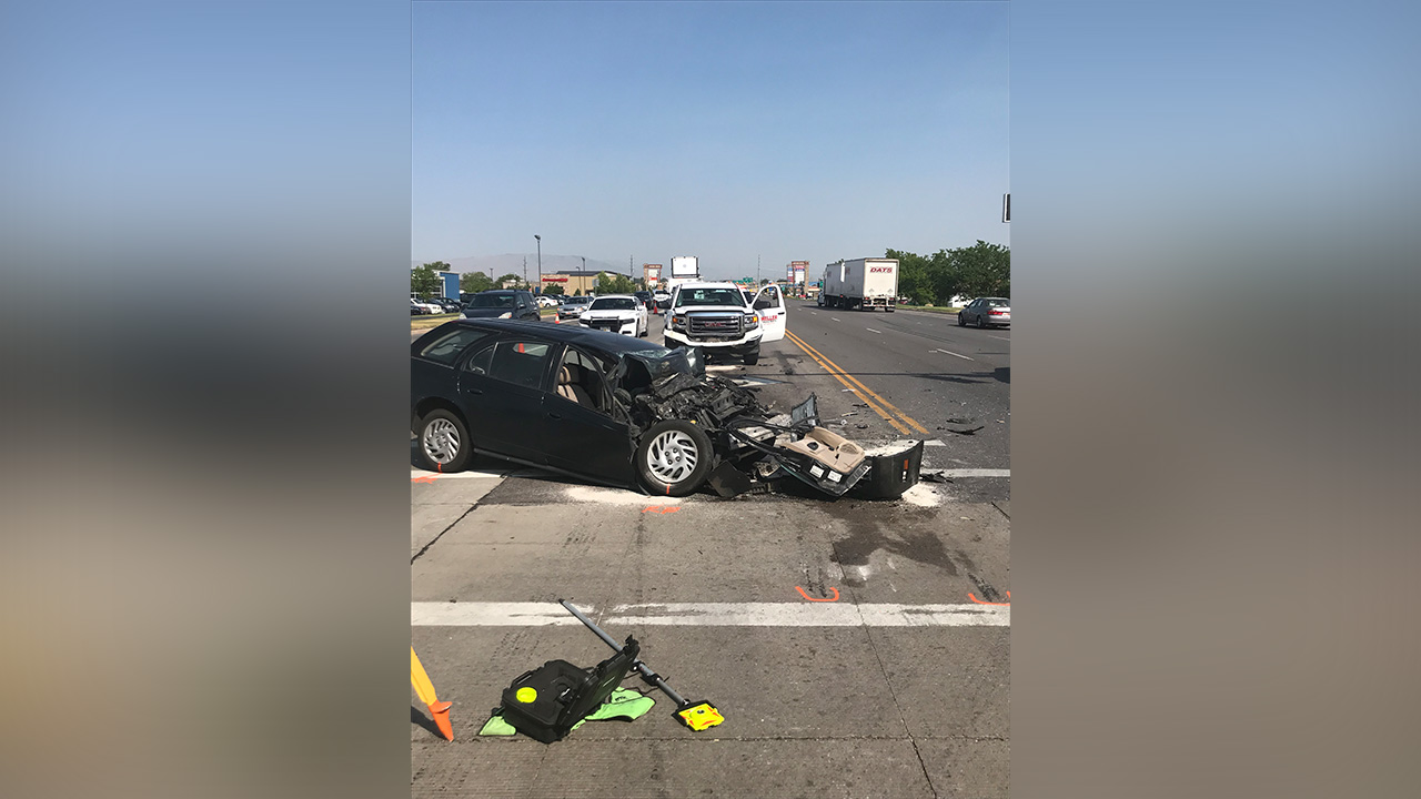 18 Year Old S After Head On Collision With Pickup Truck In Spanish Fork