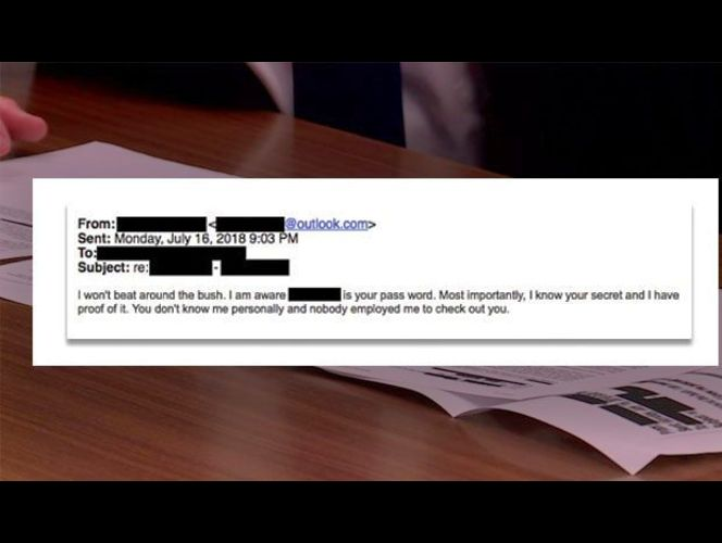Email scam claims to have your passwords, compromising videos
