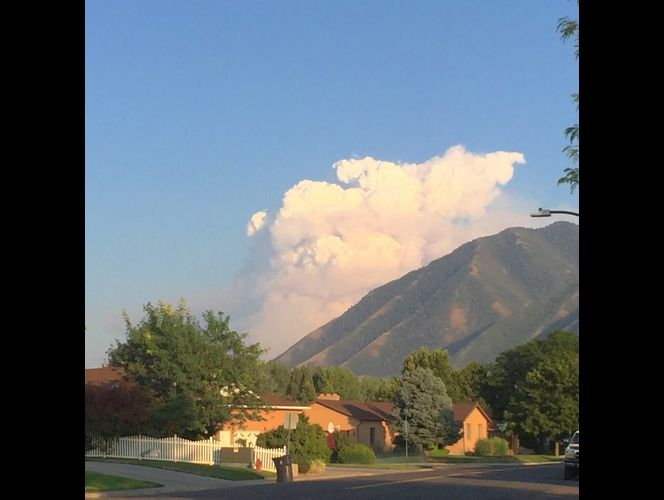Wildfire smoke from canyon creating dangerous air quality in Spanish Fork