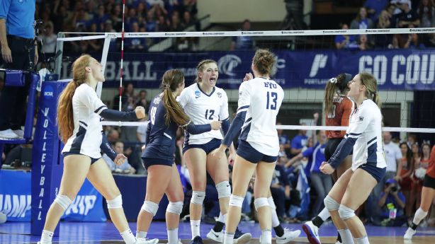 No. 4 BYU women's volleyball sweeps No. 5 Texas to advance to national semifinals