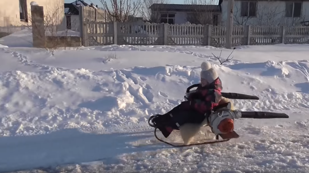 Have You Seen This? The leaf blower turbo sled