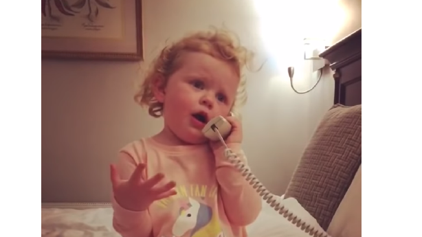 Have You Seen This? Adorable Irish tot talks her imaginary friend's ear off