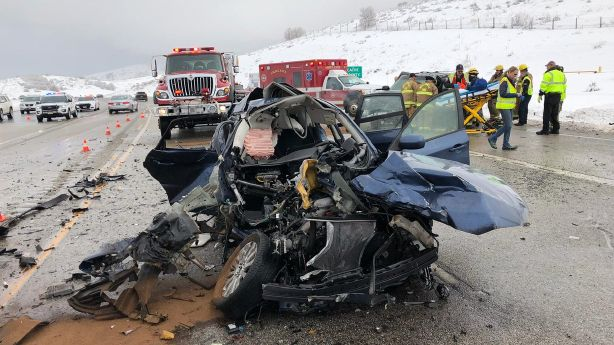 2 seriously injured in crash near Box Elder-Cache county