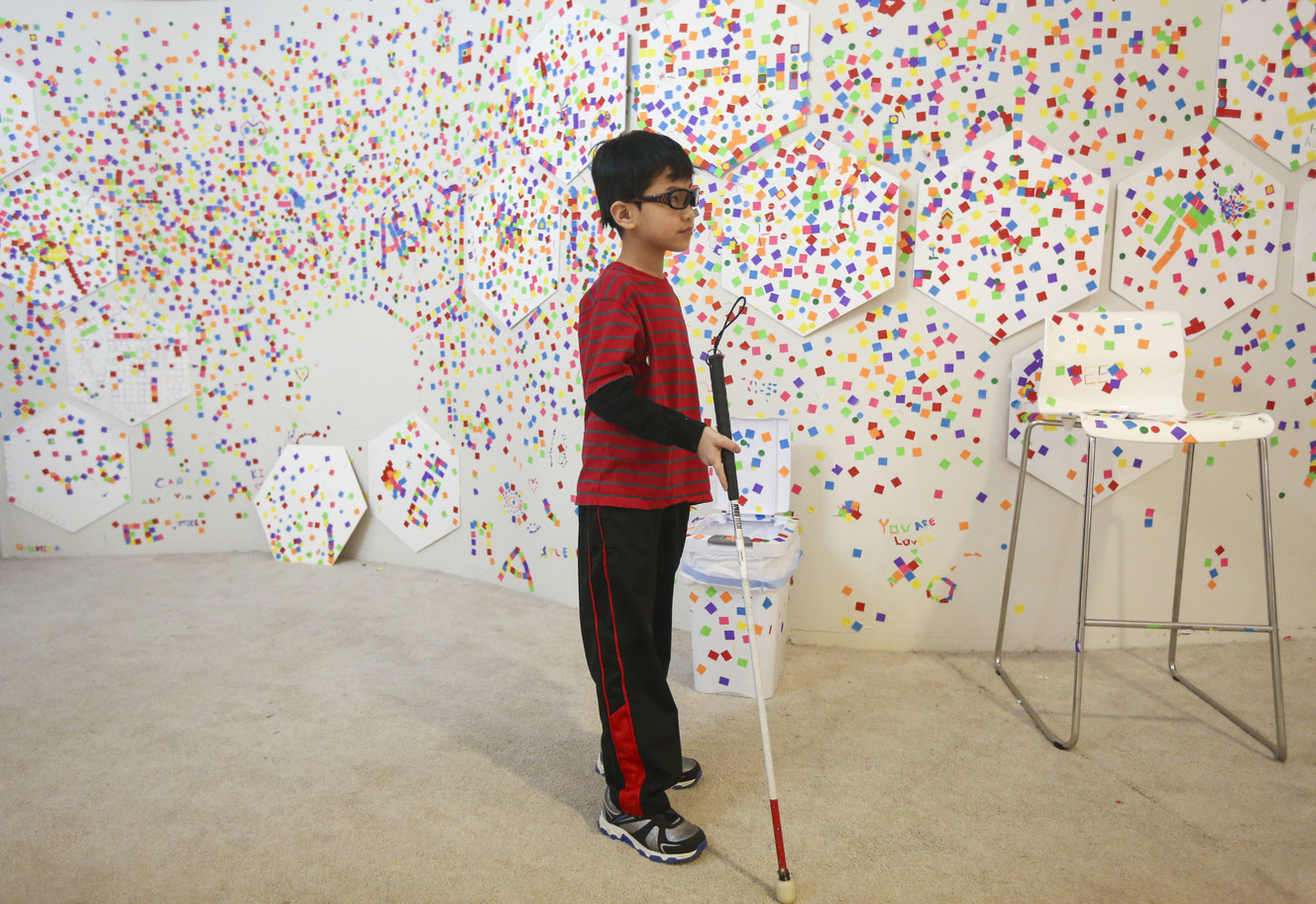 Blind Utah students experience interactive art exhibit 'dreamscapes