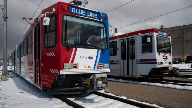 UTA debuts first Blue Line TRAX car of long-term renovation