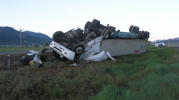 Semitruck driver avoids severe injuries in I-15 rollover near Cedar City