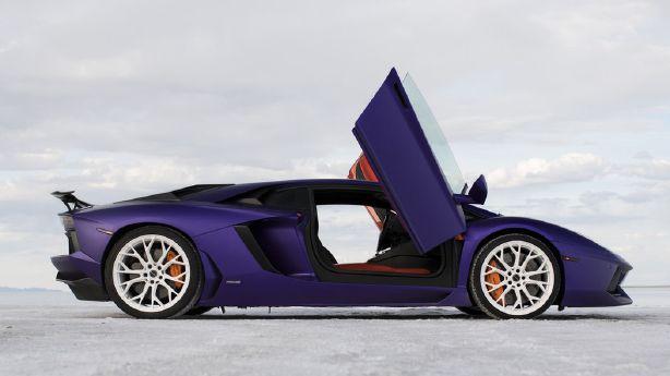 Stradman makes purple Lamborghini his own