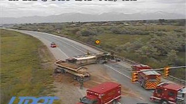 Eastbound S.R. 201 closed at 8400 West due to rollover crash