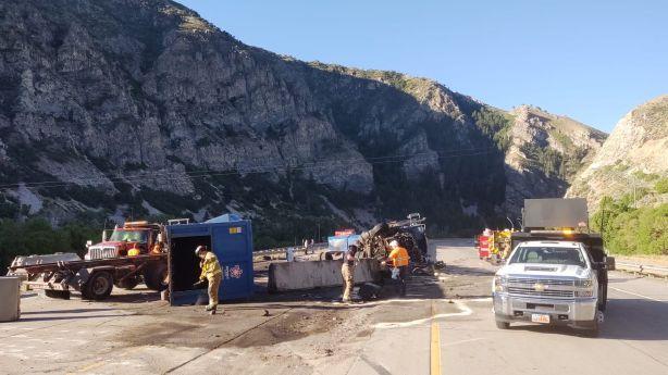 I-84 in Morgan County reopened following morning rollover | KSL com
