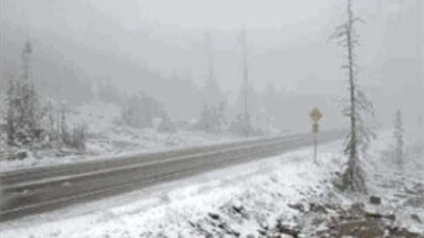 First snow of the season falls, but wildfires still burning in Utah