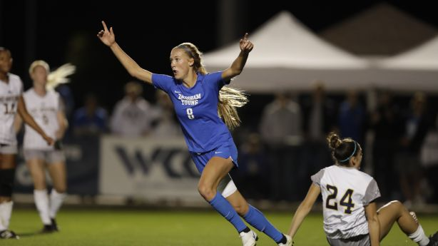 Colohan's brace helps No. 5 BYU women's soccer survive test, remain unbeaten