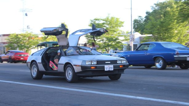 Utahn's 'Back to the Future' car turning heads on the road, at car shows