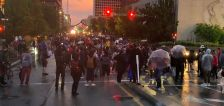 Peaceful protest filled with helpers marches miles to where Palacios-Carbajal was killed