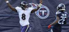 Lamar winless no more, leads Ravens to 20-13 win over Titans