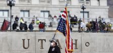 'Unprecedented' show of force meets modest protest at Utah Capitol on Sunday