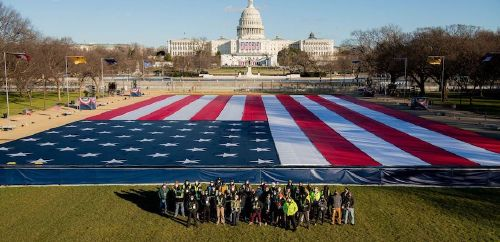 Utahns set up 'field of flags' centerpiece for Inauguration Day events