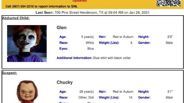 Not child's play: Chucky doll featured in errant Amber Alert - KSL.com