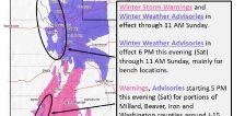 Winter weather advisories, storm warnings issued across Utah through Sunday morning