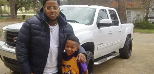 Stranger gifts new basketball hoop to boy who used trash can for practice