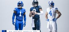 BYU nods to past with new navy, royal helmets; adds Ole Miss, Dixie State to future schedules