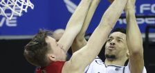 Utah State switches hoops, finds shooting form to blow by UNLV in Mountain West Tourney opener