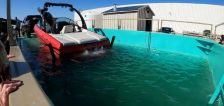 DWR dip tank clears quagga mussels off boats quicker