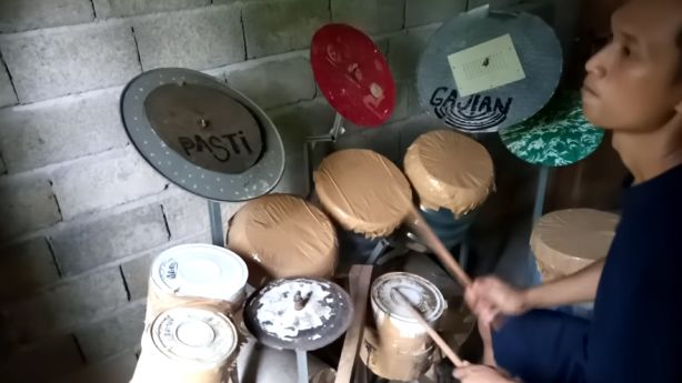 Have You Seen This? The paint-can drum cover of Rush's iconic 'Tom Sawyer'