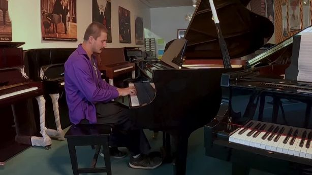 Utah man hopes to turn uncommon piano talent into career