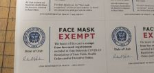 Utah Department of Health warns of fraudulent face mask exemption cards