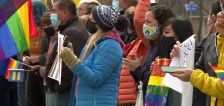 Students rally for LGBTQ classmates after teen cuts down pride flag