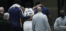 Donovan Mitchell has to be helped off the court in Jazz win over Pacers