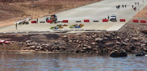 Historically low Lake Powell water levels cause closures of some launch ramps, other changes