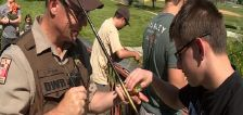 DWR officers teach fishing to special needs youth