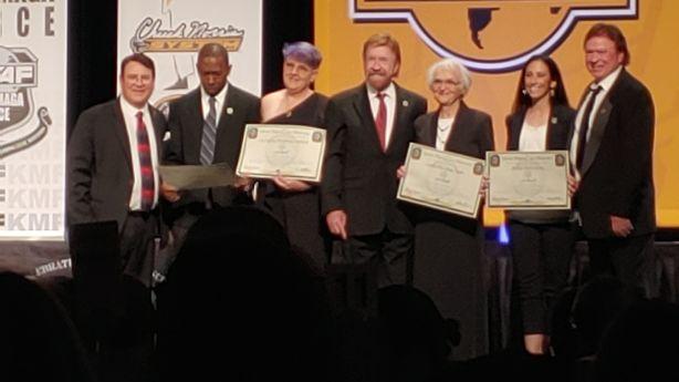 Utah grandma, 83, receives karate black belt from Chuck Norris
