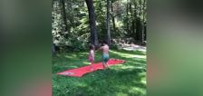 Have You Seen This? Big brother teaches sister correct water slide form