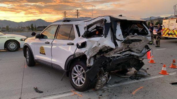 Trooper, motorists injured in crash on I-215 in West Valley City