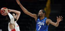 Durant scores 29, US reaches Olympic semis, tops Spain 95-81